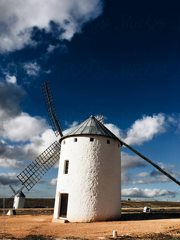 old windmills in Spain by juan moyano for Stocksy United
