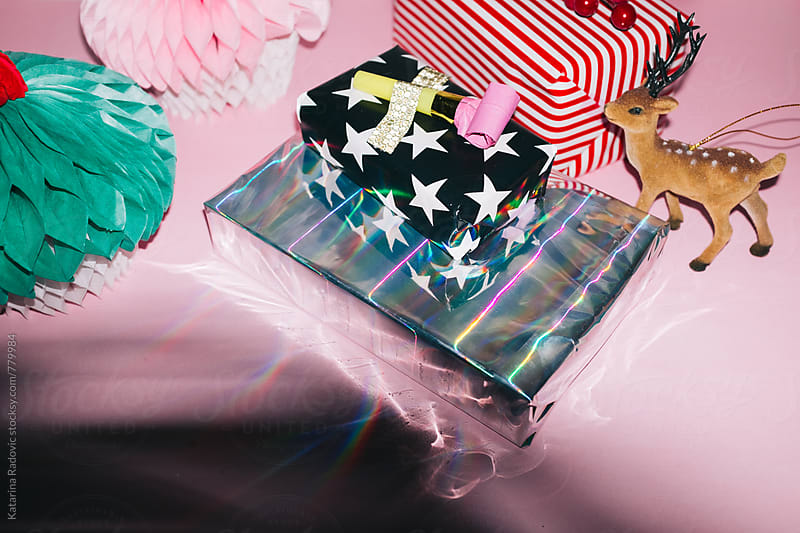 Shiny Presents Ready for Christmas Party by Katarina Radovic for Stocksy United