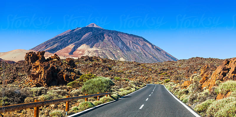 Desertic Road in Orotava Valley, Tenerife by VICTOR TORRES for Stocksy United