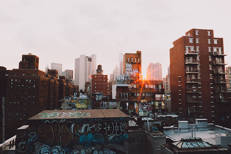 Chinatown Rooftops by Matthew Yarnell for Stocksy United