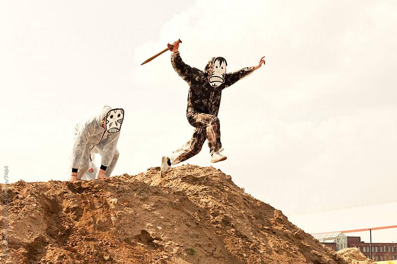 Mask Monster Attack by Urs Siedentop & Co for Stocksy United