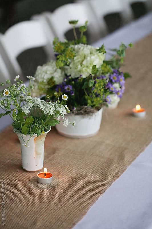 Bright White Farm Wedding by Anjali Pinto for Stocksy United