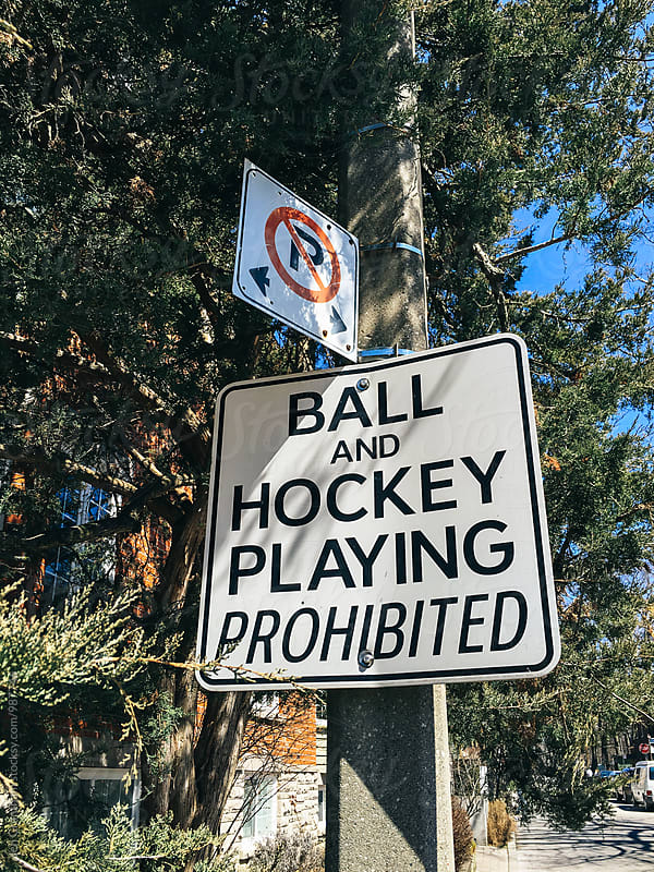Ball and hockey playing prohibited by Jen Grantham for Stocksy United
