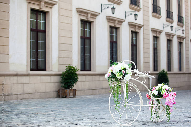 Bicycle with flowers by MaaHoo Studio for Stocksy United