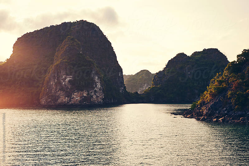 Sunset in Halong Bay by Nick Wong for Stocksy United