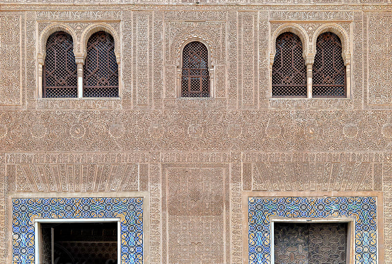 Decorative walls of La Alhambra, Granada by Bisual Studio for Stocksy United