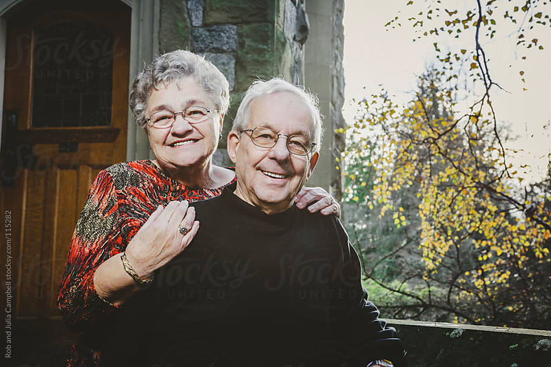 Cute Elderly Couple Portraits by Rob and Julia Campbell for Stocksy United