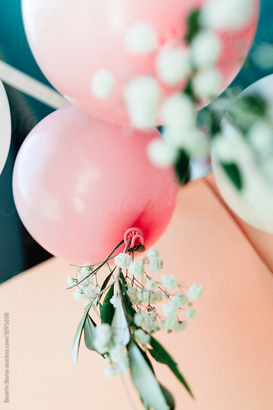 Pink balloons by Beatrix Boros for Stocksy United