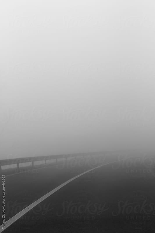 Foggy road by Tatjana Zlatkovic for Stocksy United
