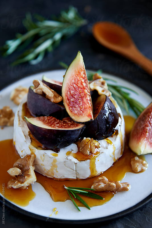 Fig and cheese appetiser or dessert by Jill Chen for Stocksy United