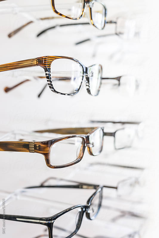 Eye Glasses Displayed for Purchase by suzanne clements for Stocksy United