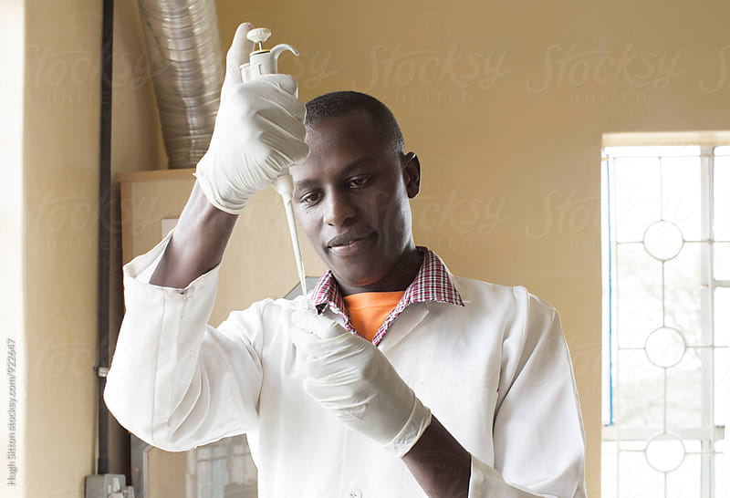 Medical Laboratory Technologist. Kenya. by Hugh Sitton for Stocksy United