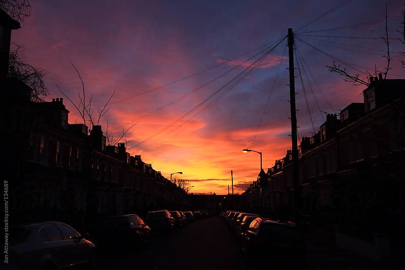 Suburban sunset by Jon Attaway for Stocksy United