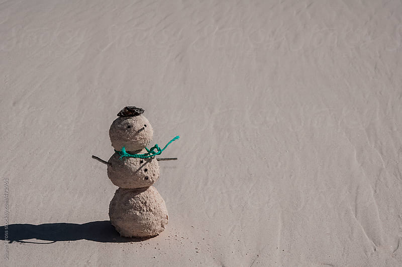 Sandy Snowman by Shane Gross for Stocksy United