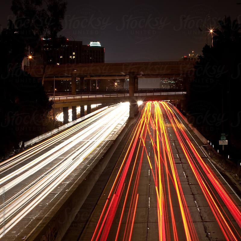 Trailing Freeway Lights by Thomas Hawk for Stocksy United
