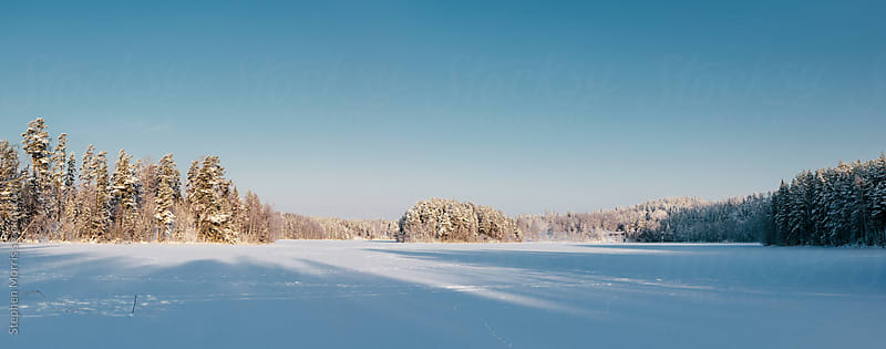 Frozen Winter Landscape Panorama by Stephen Morris for Stocksy United