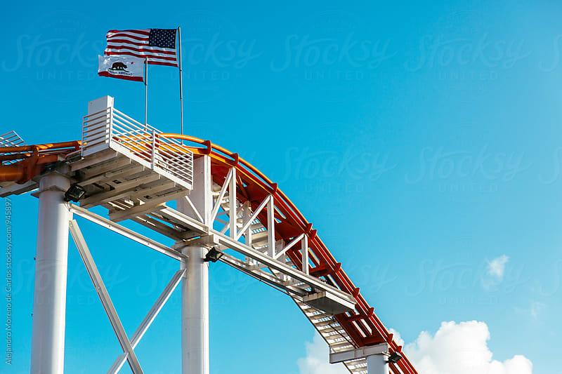 Tracks of rollercoaster by Alejandro Moreno de Carlos for Stocksy United