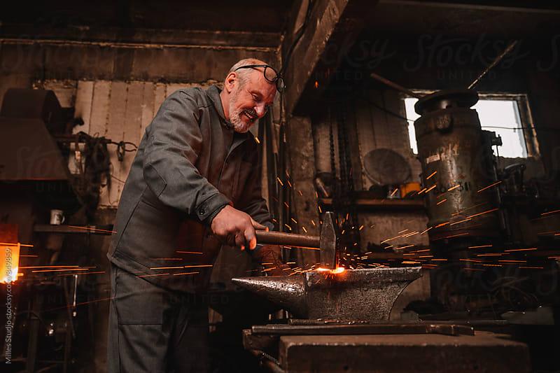 Blacksmith Portrait by Milles Studio for Stocksy United