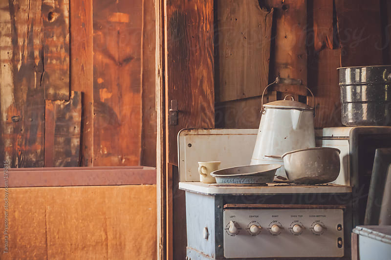 Interior Antique Kitchen View by Tamara Pruessner for Stocksy United
