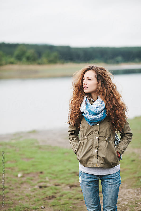 Portrait of beautiful young woman in nature by Aleksandar Novoselski for Stocksy United