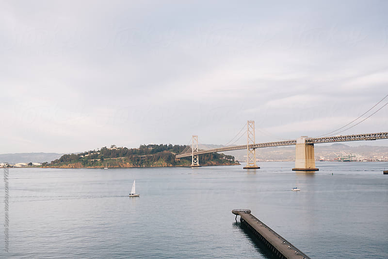 Bay bridge vew by Anastasiia Sapon for Stocksy United