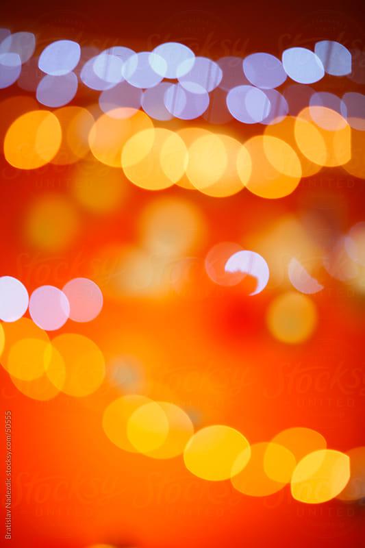 Abstract Christmas lights by Bratislav Nadezdic for Stocksy United