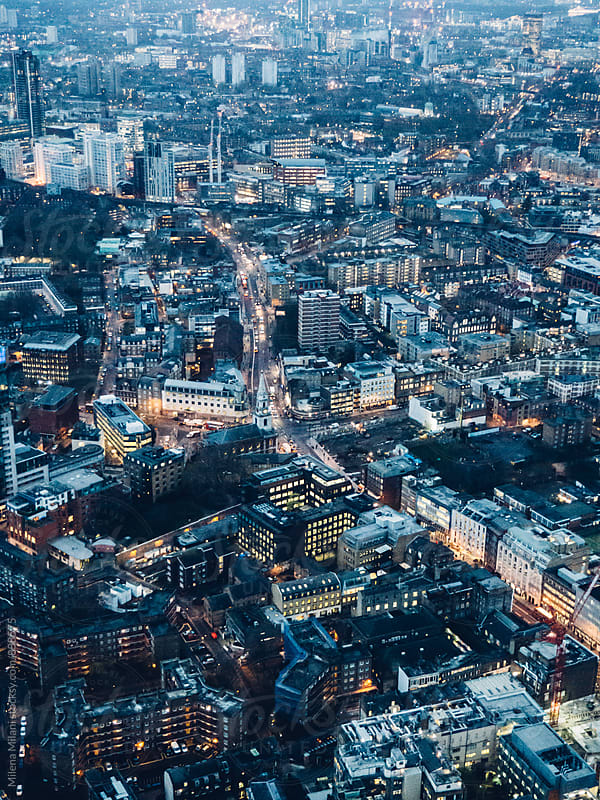 Aerial view of London by Milena Milani for Stocksy United