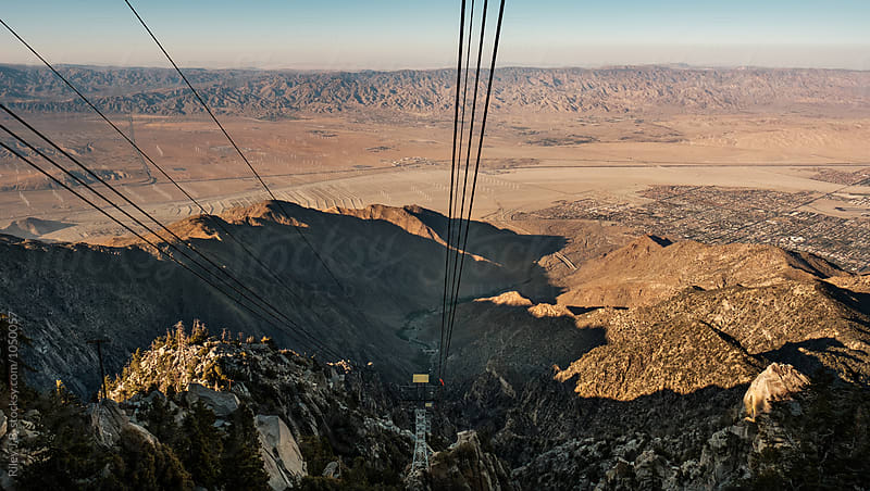 View of the Coachella Valley from a tram by Riley J.B. for Stocksy United