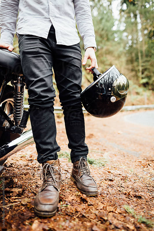 Café Racer Rider Getup by Luke Mattson for Stocksy United