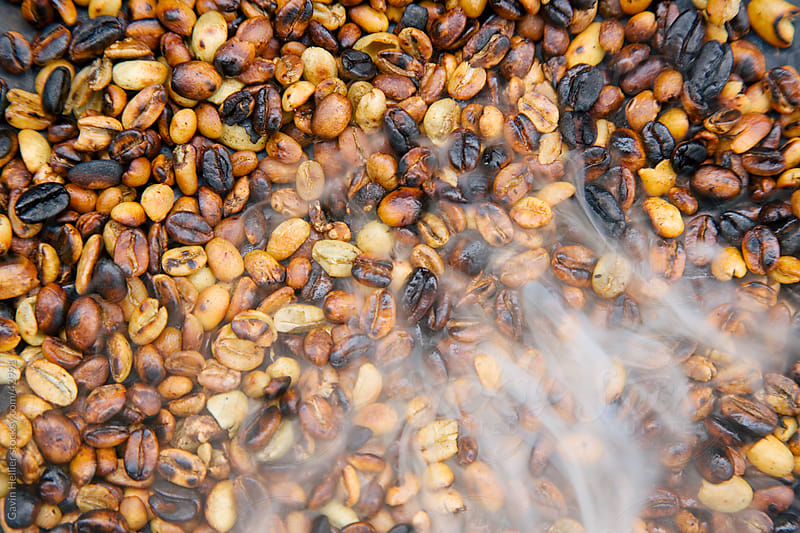 Roasting coffee beans, Bahir Dar, Lake Tana, Gondar region, Ethiopia, Africa by Gavin Hellier for Stocksy United