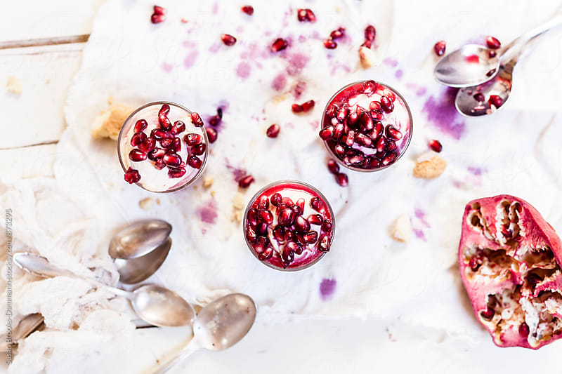 Tiramisu with Pomegranates by Susan Brooks-Dammann for Stocksy United