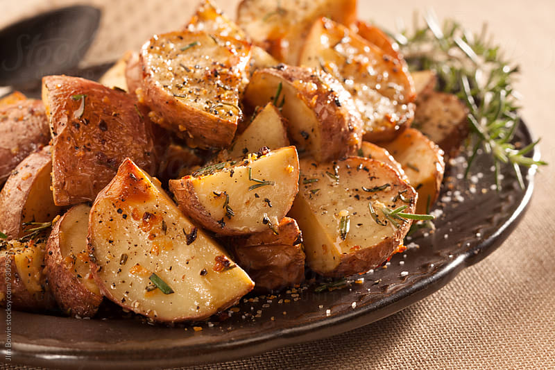 Rosemary Potatoes by JIm Bowie for Stocksy United