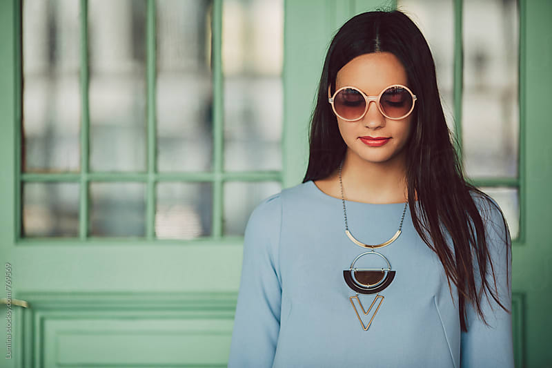 Beautiful Young Woman With Sunglasses by Lumina for Stocksy United