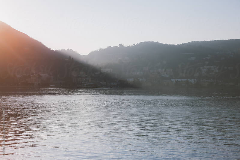 Como lake district at sunset by Giada Canu for Stocksy United