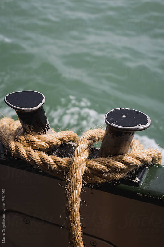 Rope on a boat by Mauro Grigollo for Stocksy United