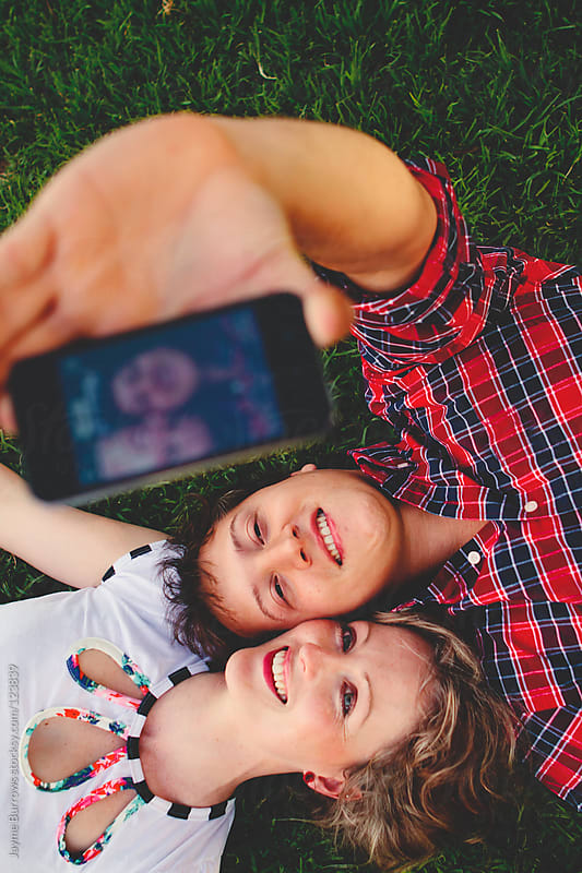 Selfie Portrait by Jayme Burrows for Stocksy United