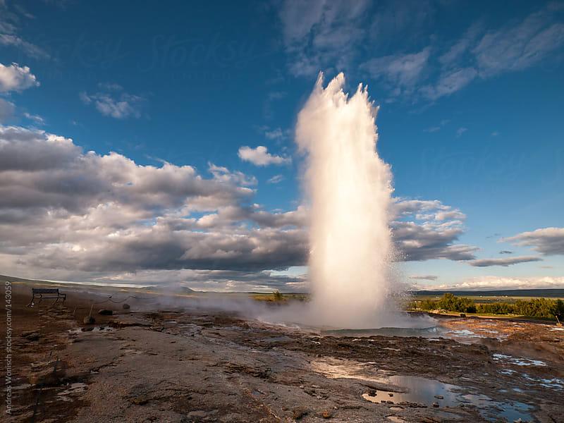 Eruption of Strukkur Geysir in Iceland by Andreas Wonisch for Stocksy United