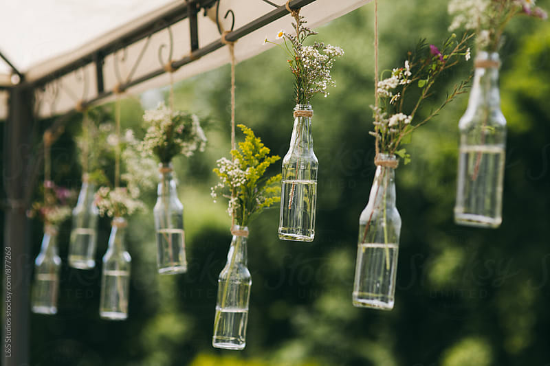 Hanging bottles by L&S Studios for Stocksy United