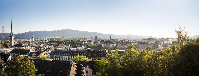 City of Zurich (Zürich) by VISUALSPECTRUM for Stocksy United