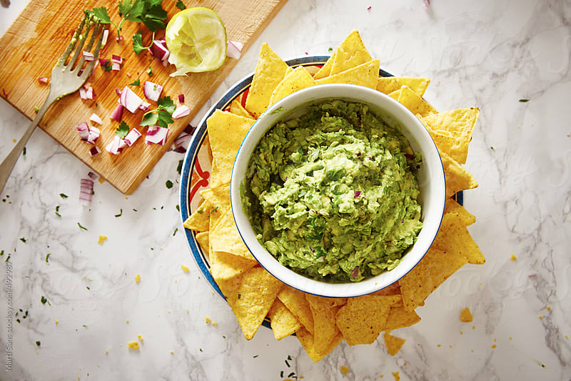 Homemade Mexican guacamole by Martí Sans for Stocksy United