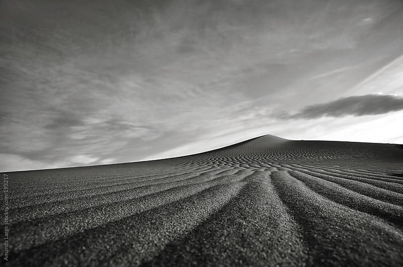Black and white sand landscape of a sand dune. by Amanda Large for Stocksy United