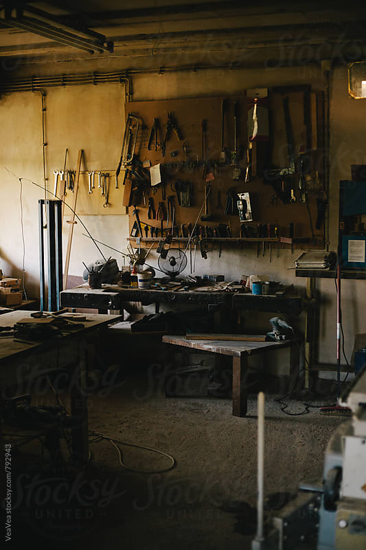 Carpenter's workshop by Marija Mandic for Stocksy United