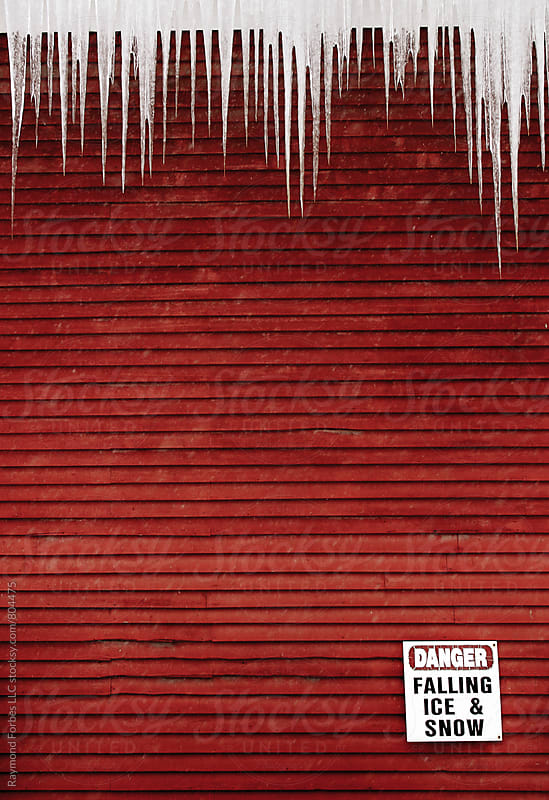 Caution Falling Ice & Snow by Raymond Forbes LLC for Stocksy United