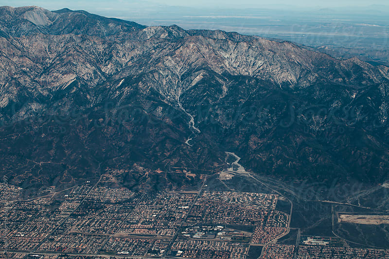Los Angeles seen from an airplane by Anjali Pinto for Stocksy United