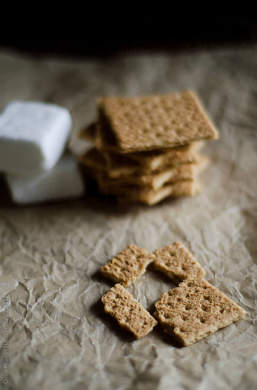 gram crackers and marshmallows by Crissy Mitchell for Stocksy United