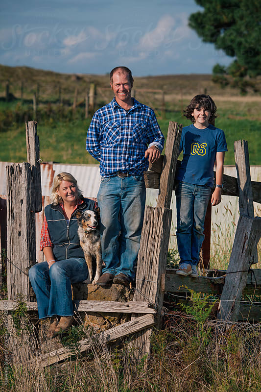 Farming Family on Homestead by Rowena Naylor for Stocksy United