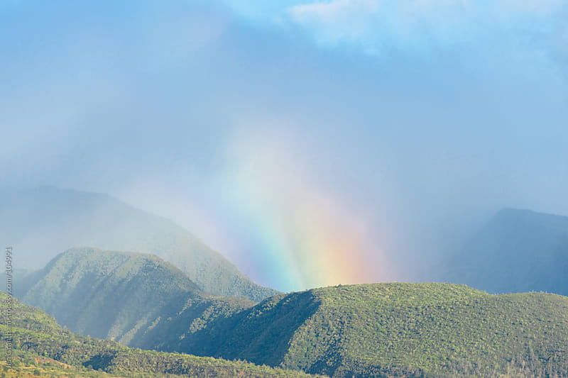 Rainbow in the West Maui Mountains by Jen Grantham for Stocksy United