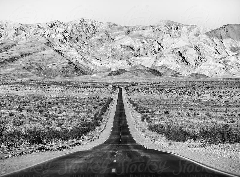Lonely Road in Death Valley, CA by Eric J. Leffler for Stocksy United