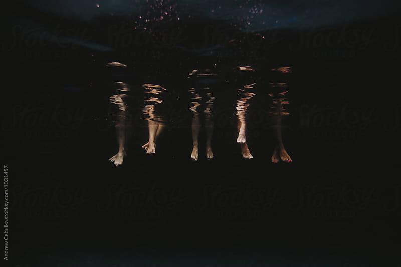 Feet in Pool by Andrew Cebulka for Stocksy United