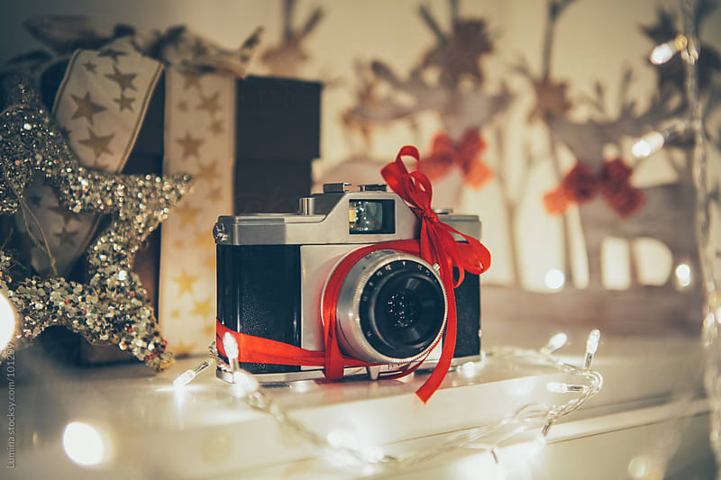 Camera as a Christmas Present by Lumina for Stocksy United